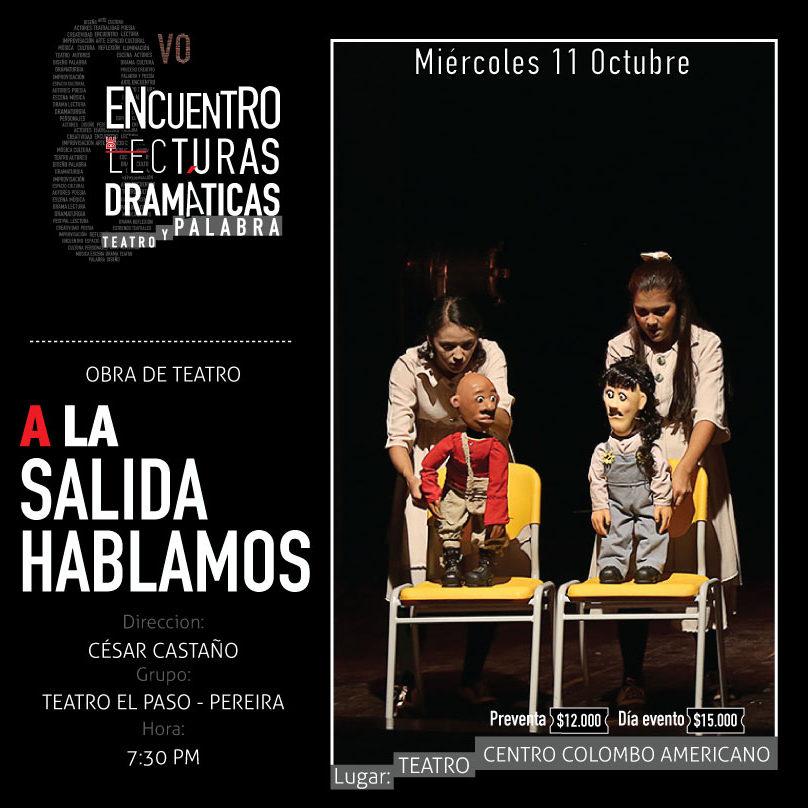 Obra de teatro: A La Salida Hablamos